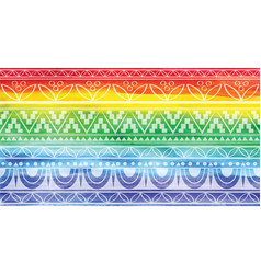 Rainbow background with a pattern vector