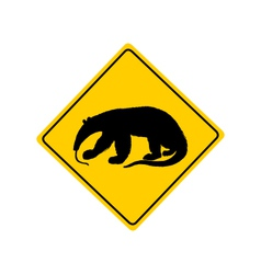 Anteater warning sign vector