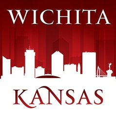 Wichita kansas city skyline silhouette vector