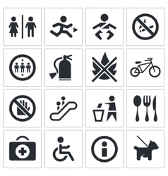 International signs icon set vector image