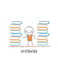 archivist vector image