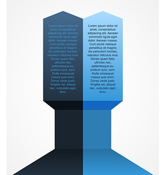 Modern arrow infographics element vector