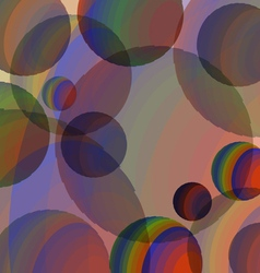 Abstraction of colored spheres vector