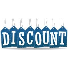 Discount advertising vector
