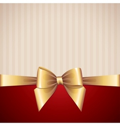 Background with gold bow vector