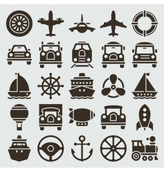 Vintage retro icons vector image