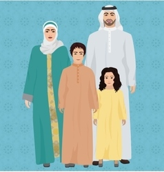 Arab family vector