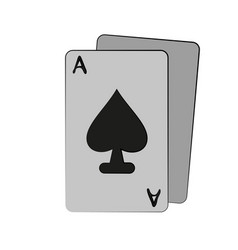 ace of spades card icon image vector image vector image