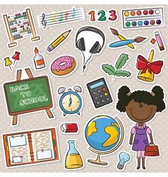 African-American school girls vector image vector image