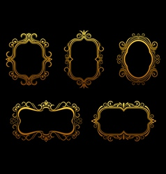 antique golden frames vector image vector image
