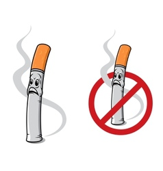 Cartoon cigarette vector image