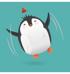 Cartoon penguin character Funny bird vector image