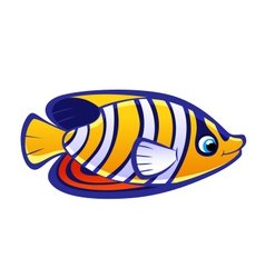 cartoon sea fish vector image vector image