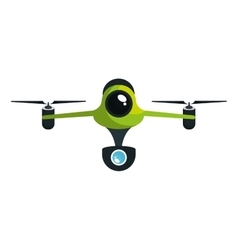 Drone technology isolated icon vector