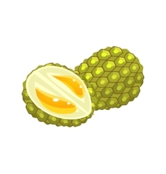 Durian flat sticker vector