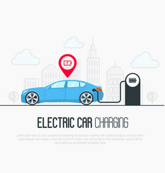 electric blue car with low battery vector image vector image