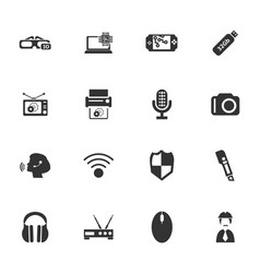 electronics repair icons set vector image vector image