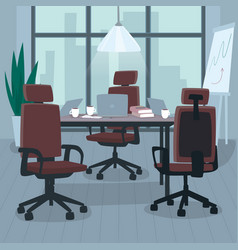 Empty open workspace for multiple employees vector