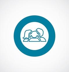 Family icon bold blue circle border vector