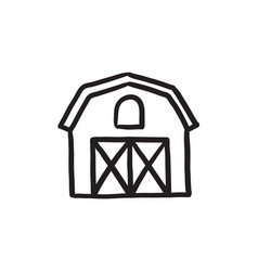 Farm buildings sketch icon vector