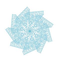 Flower mandalas vintage decorative elements vector