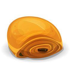 French chocolate bread icon vector