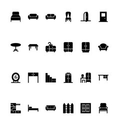 Furniture Hand Drawn Icons 1 vector image vector image