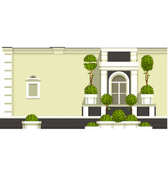 Gardening of balconies vector