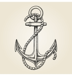 hand drawn nautical anchor vector image