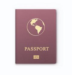 international identification document for travel vector image
