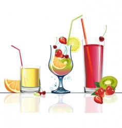 juice and fruits vector image