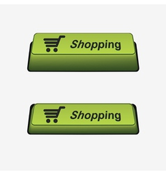 key shopping vector image vector image