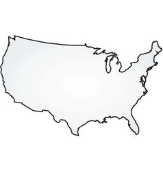 Map usa vector
