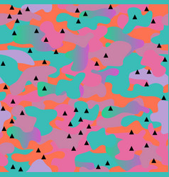 Memphis camouflage seamless pattern in a orange vector
