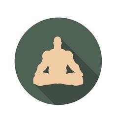 Muscular man meditation vector