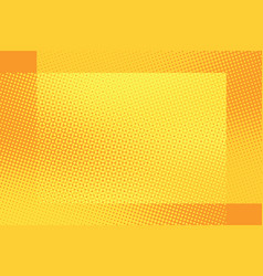 Orange frame pop art retro background vector