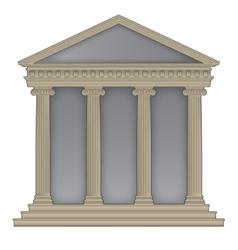 Romangreek temple vector