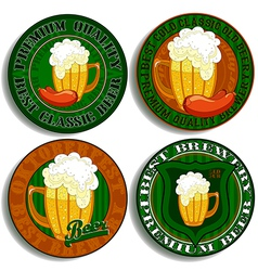 set of beer tags vector image vector image