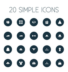 set of simple wardrobe icons vector image vector image