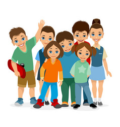 Smiling children of different ages vector