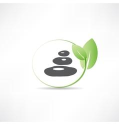 stones for spa salon icon vector image vector image