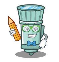 Student flashlight cartoon character style vector