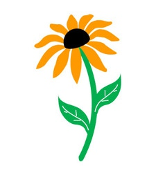 Sunflower isolated vector image