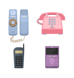 telephones vintage icons vector image