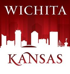 Wichita Kansas city skyline silhouette vector image vector image