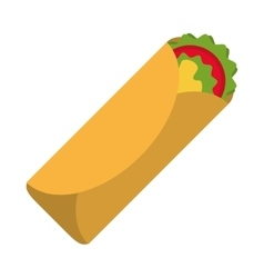 Isolated mexican burrito design vector