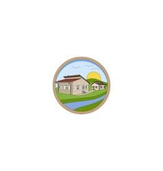 Prefabricated Houses Logo vector image