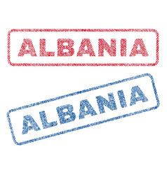 Albania textile stamps vector
