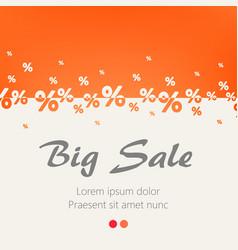 creative abstract orange percent background big vector image