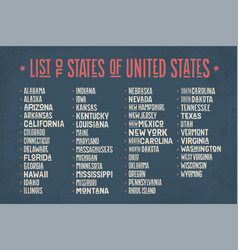 List of states of united states of america vector
